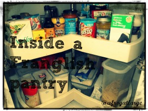 Inside a franglish pantry