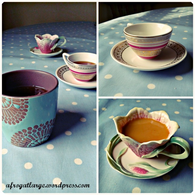 Tea cups Collage