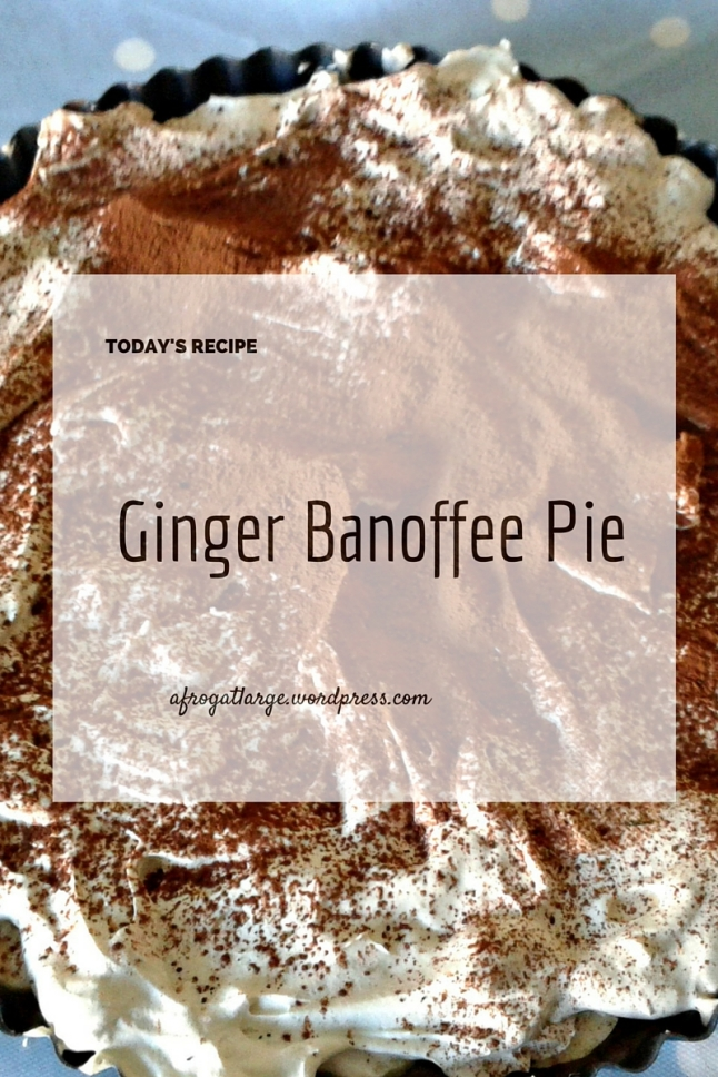 ginger biscuit banana toffee pie